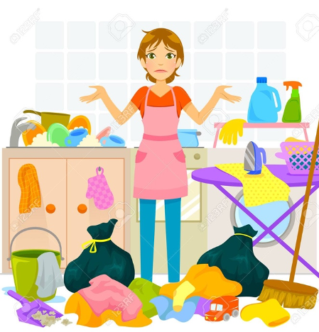 Afbeeldingsresultaat voor overwhelmed by chores